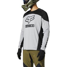 Fox Defend Foxhead Langarm Trikot Herren steel grey